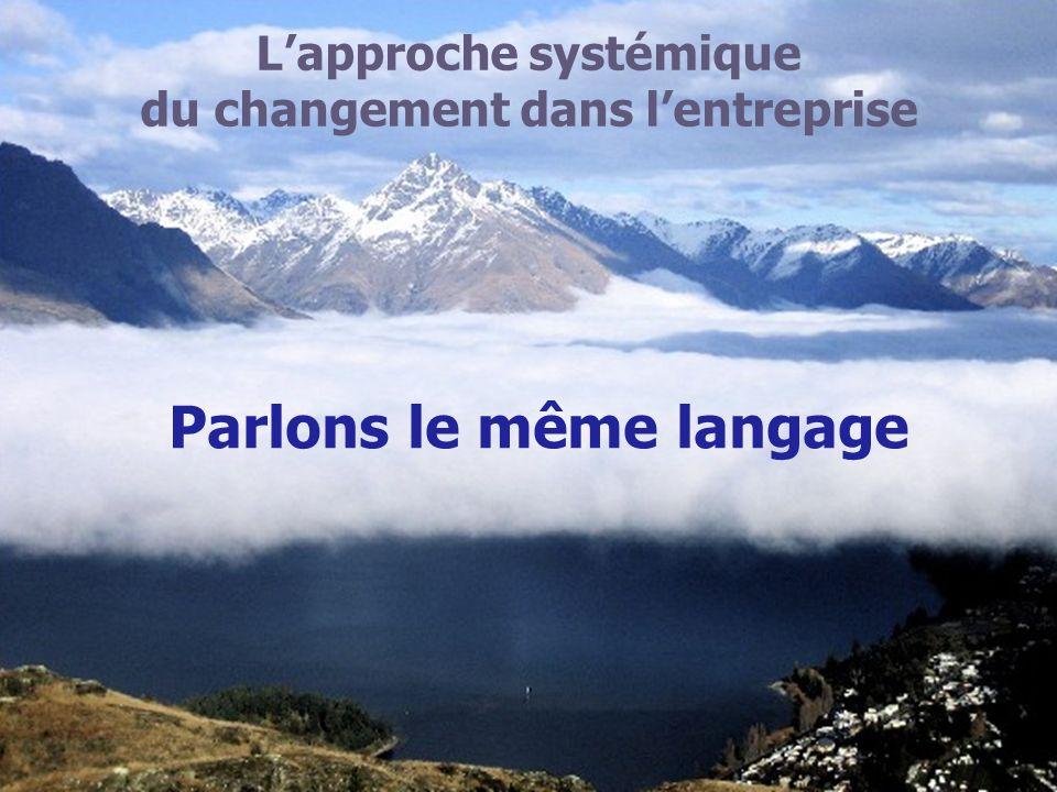 Lapproche systémique du changement dans lentreprise Parlons le même langage