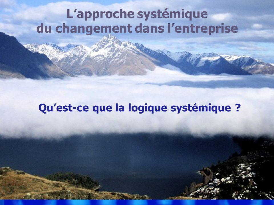 Lapproche systémique du changement dans lentreprise Quest-ce que la logique systémique ?