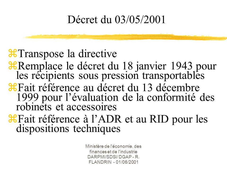 Ministère de l économie, des finances et de l industrie DARPMI/SDSI/ DGAP - R.
