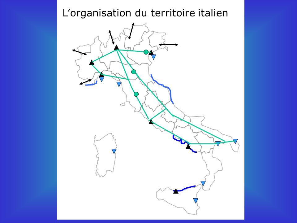 Lorganisation du territoire italien