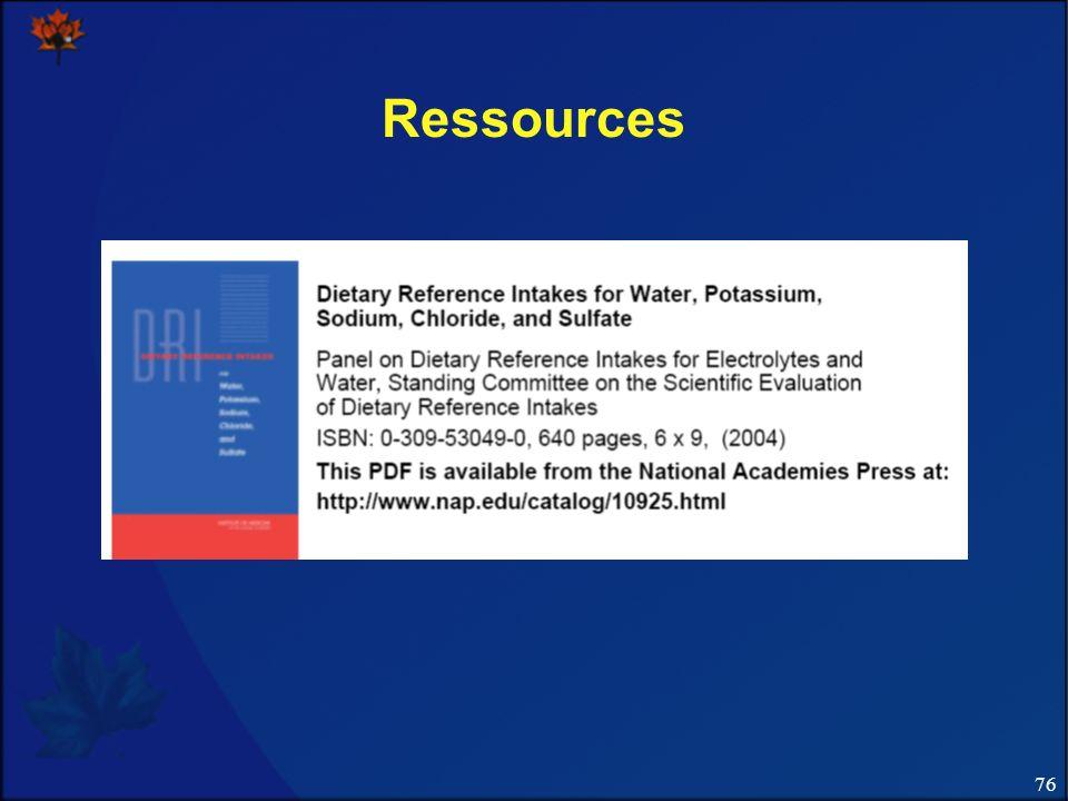 76 Ressources