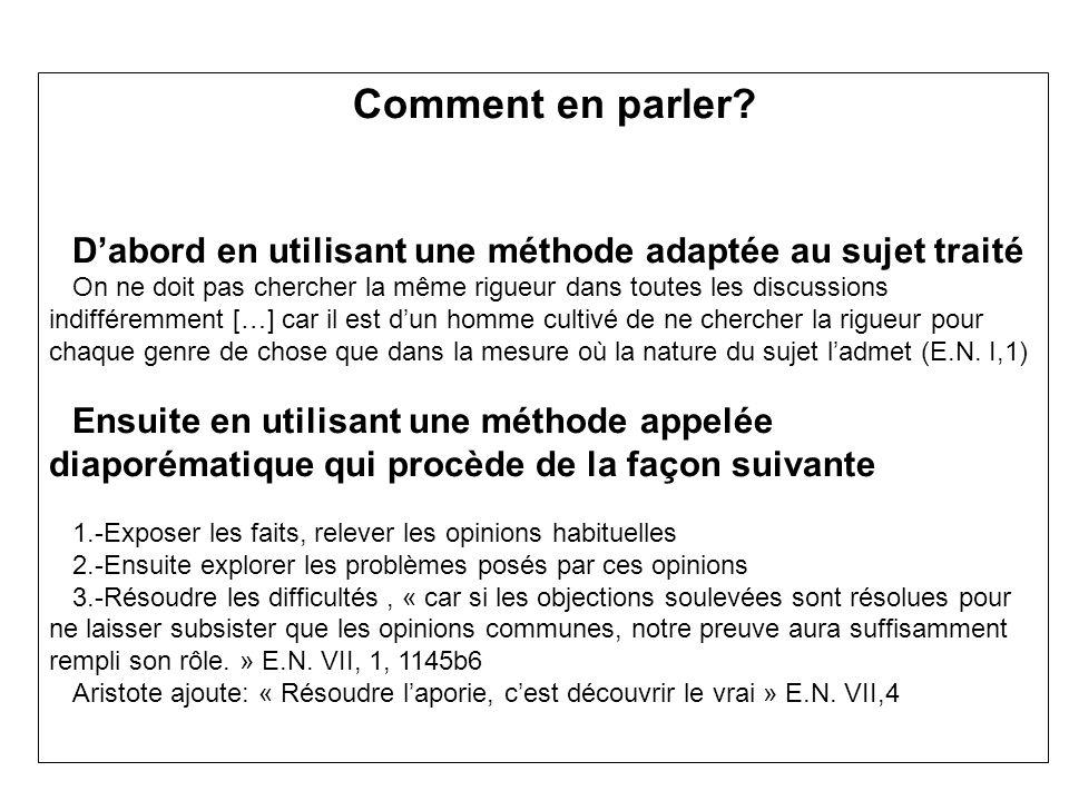 Doù le plan du texte VII,2 : Enoncé des opinions communes VII.3 : Analyse des difficultés VII.5 : Solution des difficultés