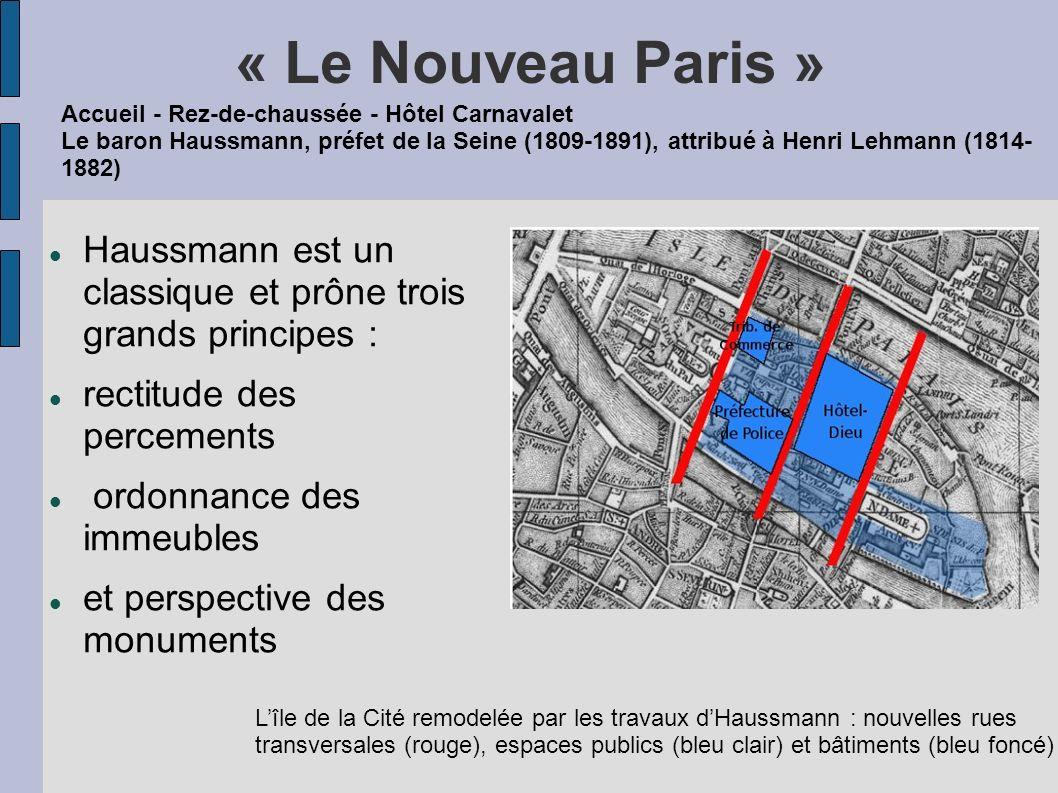 « Le Nouveau Paris » Haussmann est un classique et prône trois grands principes : rectitude des percements ordonnance des immeubles et perspective des