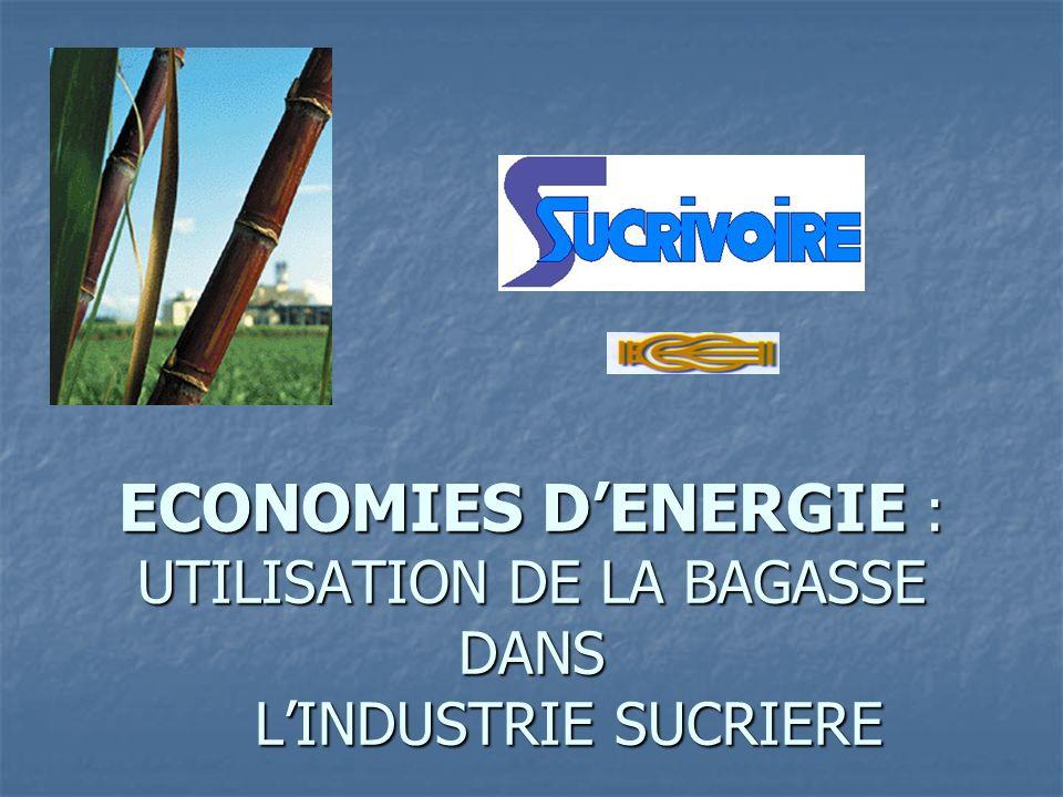 ECONOMIES DENERGIE : UTILISATION DE LA BAGASSE DANS LINDUSTRIE SUCRIERE