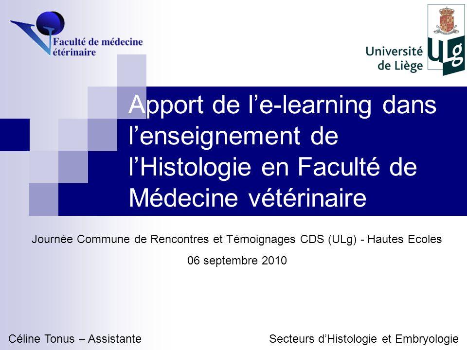 Contexte denseignement Cours dhistologie en 2 e et 3 e bac.