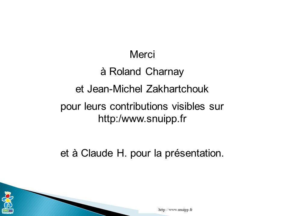 Merci à Roland Charnay et Jean-Michel Zakhartchouk pour leurs contributions visibles sur http:/www.snuipp.fr et à Claude H. pour la présentation.