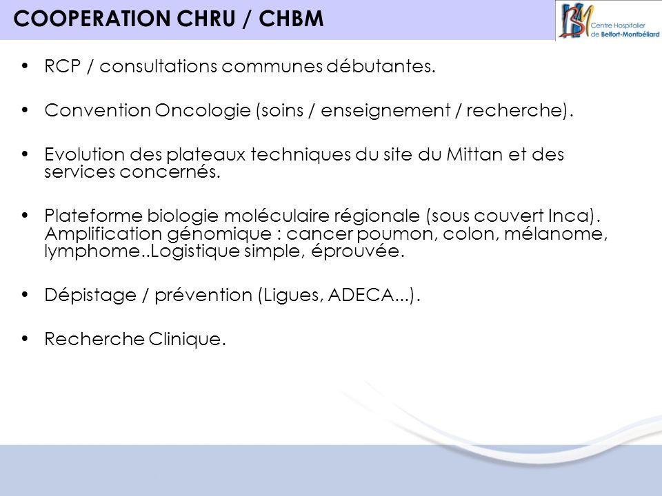 COOPERATION CHRU / CHBM RCP / consultations communes débutantes.