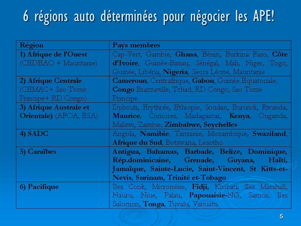 5 6 régions auto déterminées pour négocier les APE!