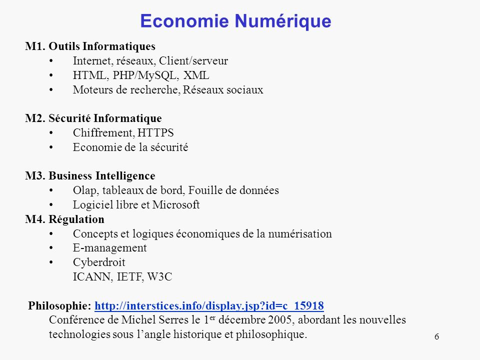 6 Economie Numérique M1.