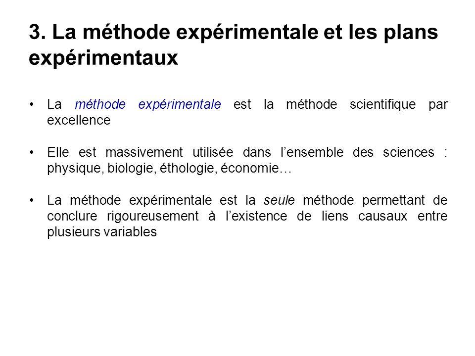 La méthode expérimentale est la méthode scientifique par excellence Elle est massivement utilisée dans lensemble des sciences : physique, biologie, ét