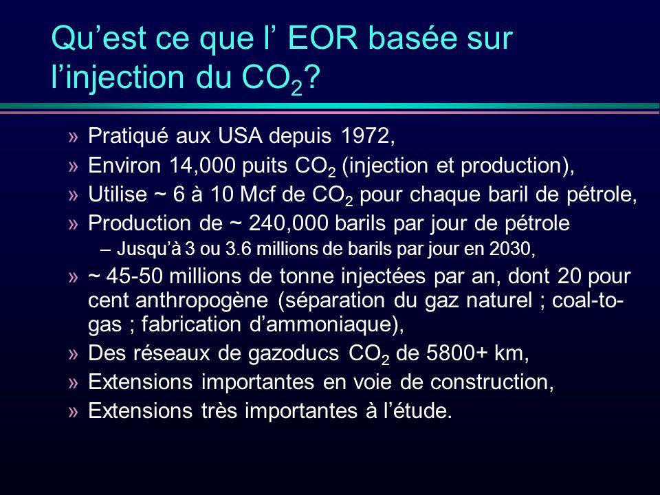 Quest ce que l EOR basée sur linjection du CO 2 .