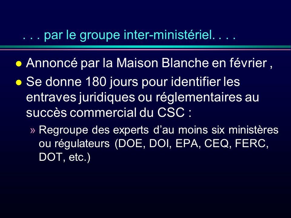 ... par le groupe inter-ministériel....