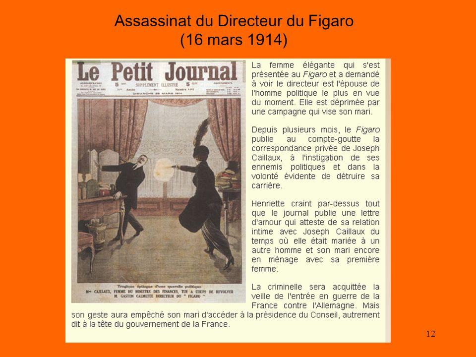 12 Assassinat du Directeur du Figaro (16 mars 1914)