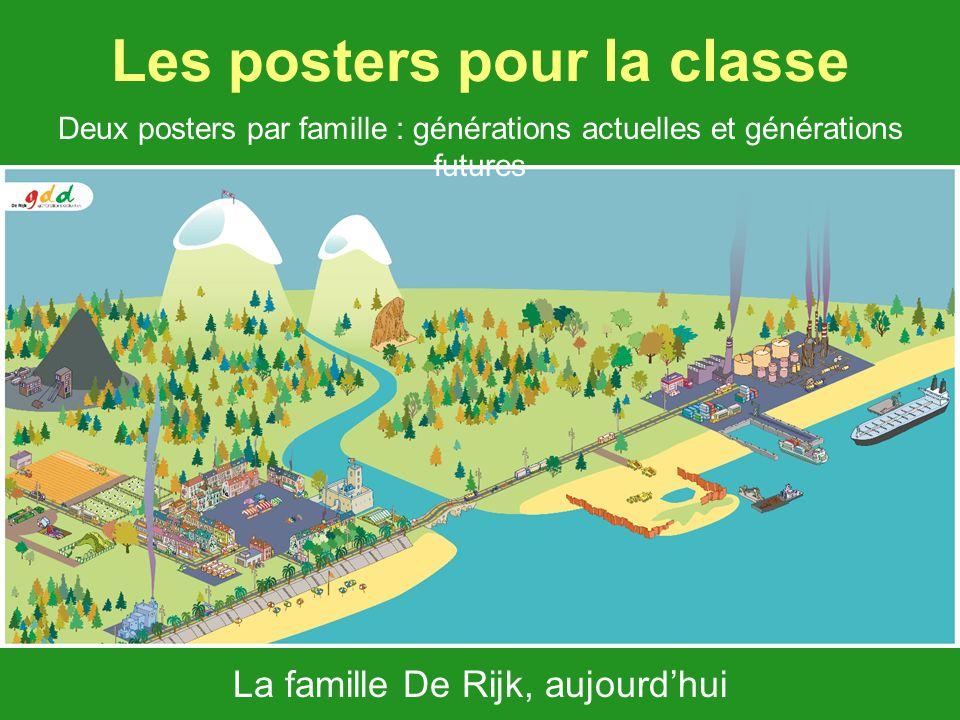 Les posters pour la classe La famille De Rijk, aujourdhui Deux posters par famille : générations actuelles et générations futures