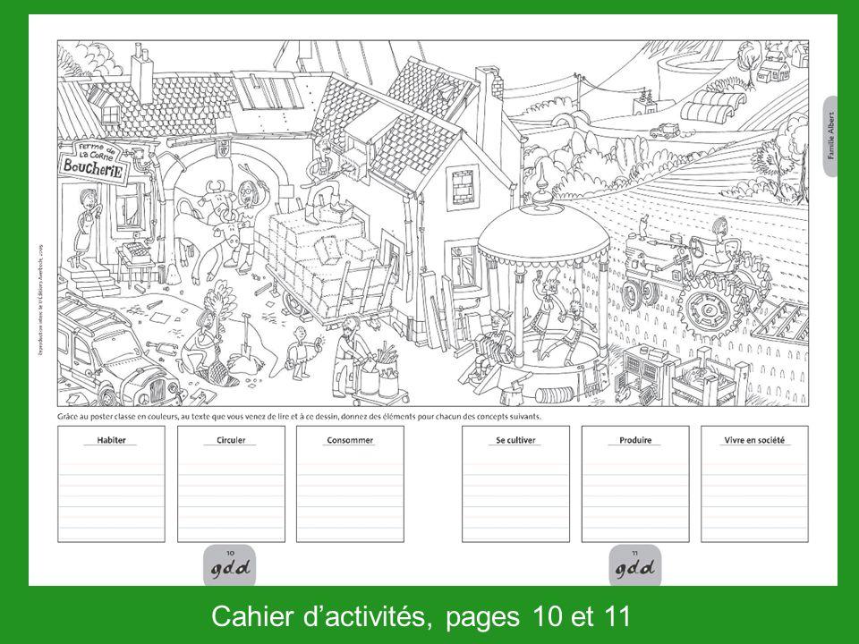 Cahier dactivités, pages 10 et 11