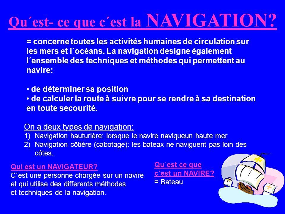 Qu´est- ce que c´est la NAVIGATION.