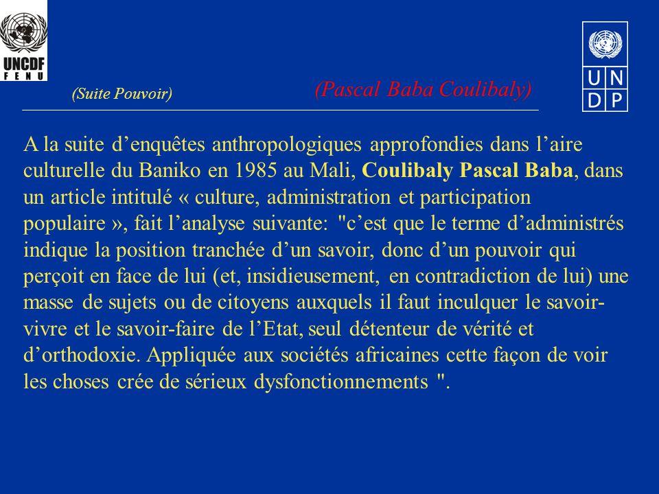 A la suite denquêtes anthropologiques approfondies dans laire culturelle du Baniko en 1985 au Mali, Coulibaly Pascal Baba, dans un article intitulé «
