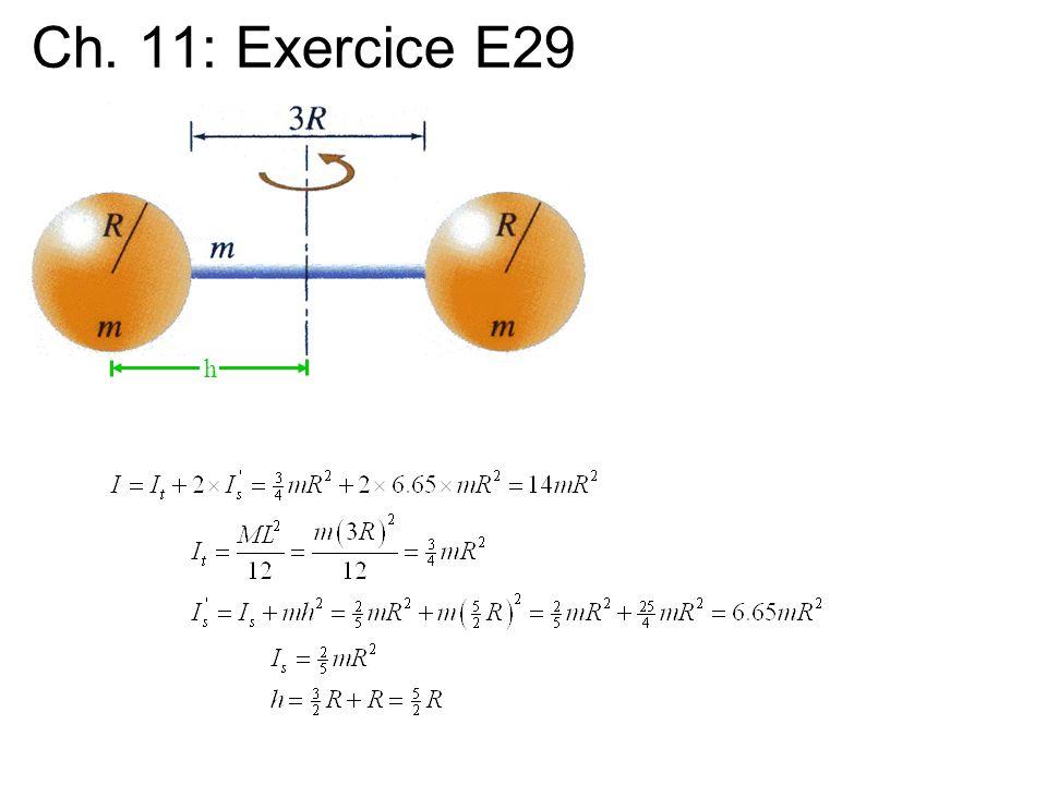 Ch. 11: Exercice E29 h