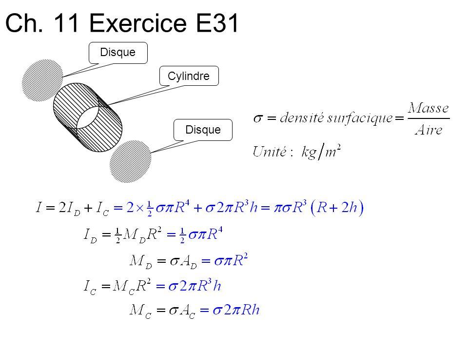 Ch. 11 Exercice E31 Cylindre Disque