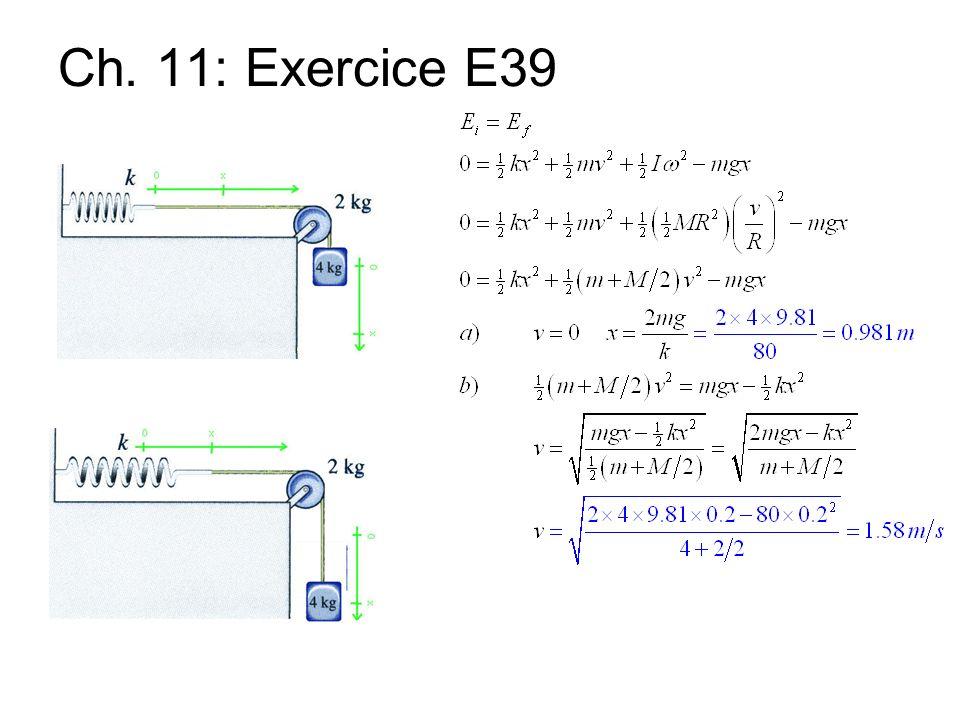 Ch. 11: Exercice E39