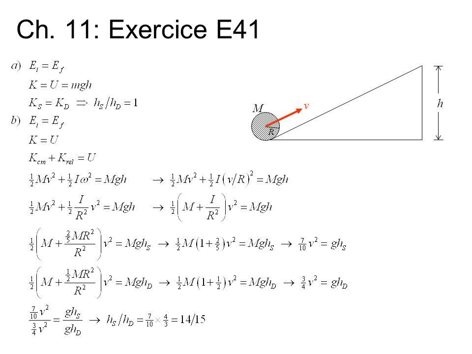 Ch. 11: Exercice E41 h M R v