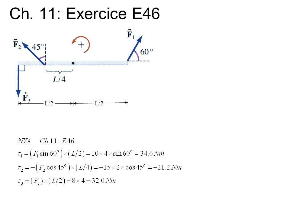 Ch. 11: Exercice E46 L/2