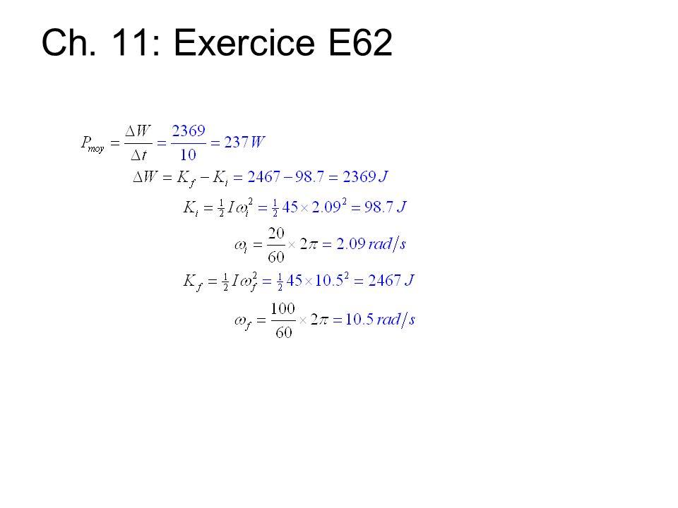 Ch. 11: Exercice E62