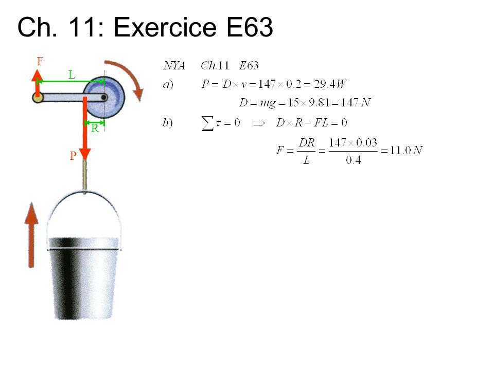 Ch. 11: Exercice E63 F P R L