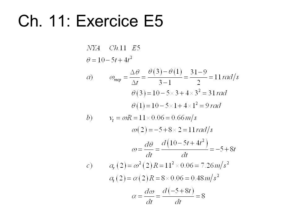 Ch. 11: Exercice E5