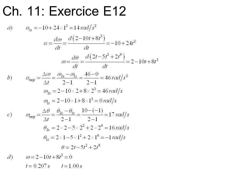 Ch. 11: Exercice E12