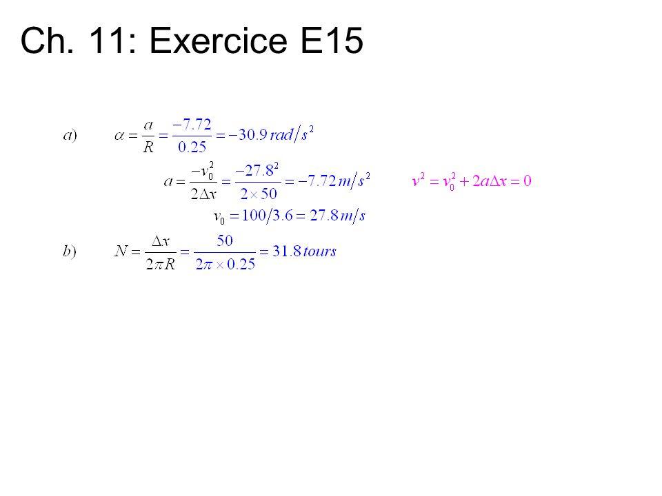 Ch. 11: Exercice E15