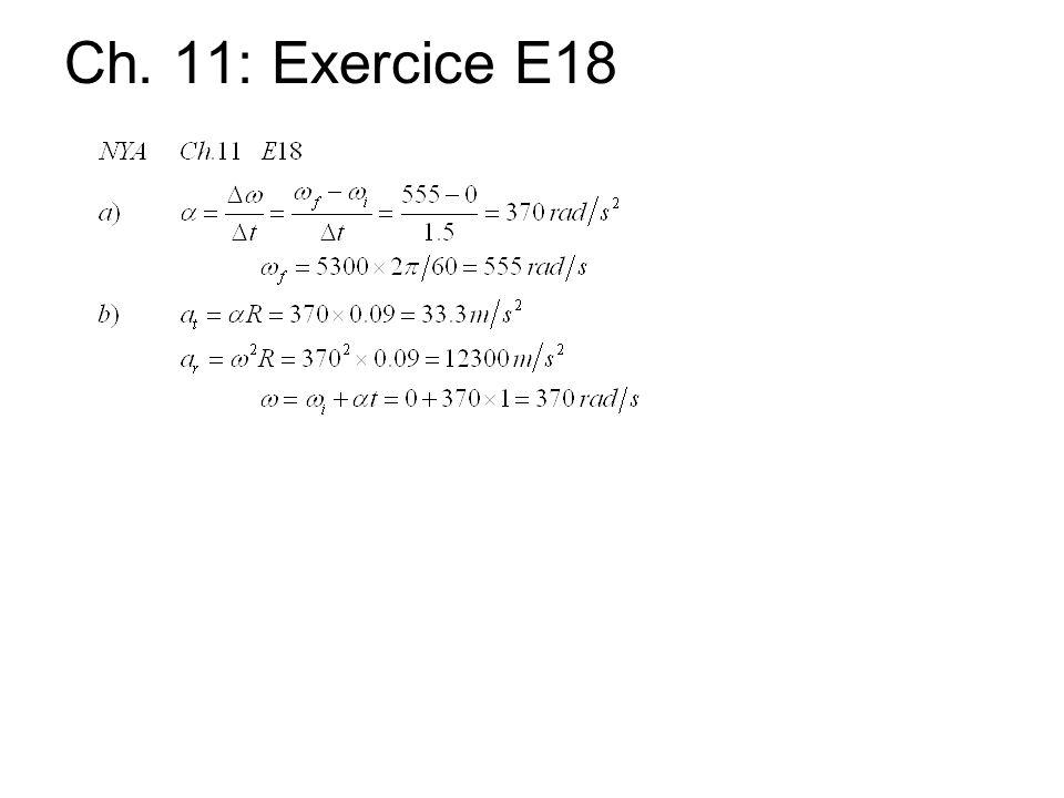 Ch. 11: Exercice E18