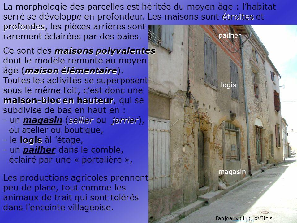 pailher logis magasin Fanjeaux (11), XVIIe s.