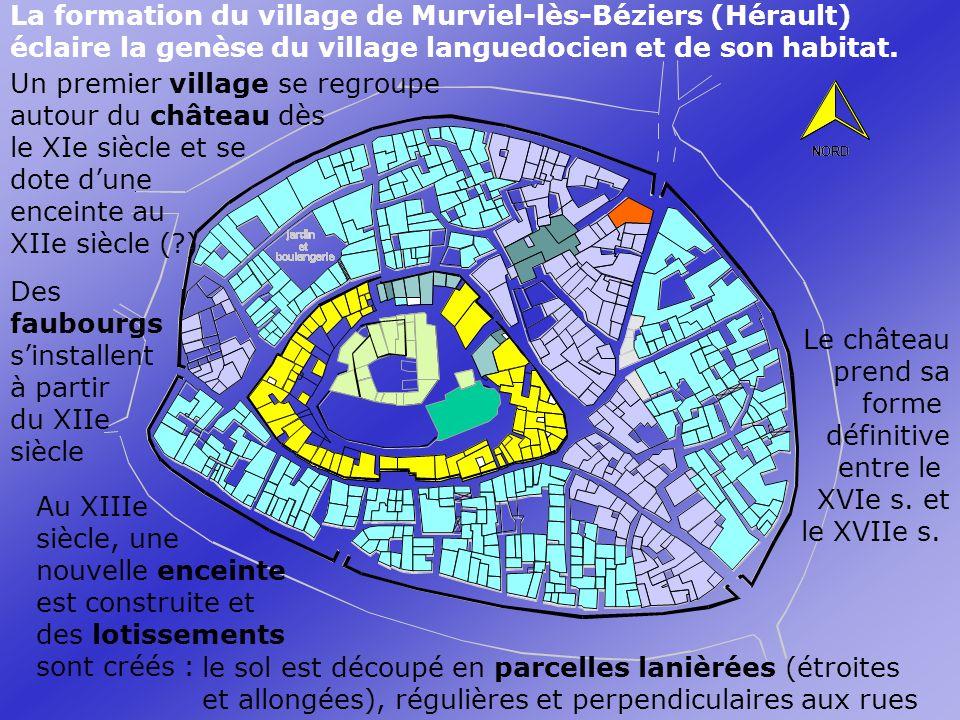 Un premier village se regroupe autour du château dès le XIe siècle et se dote dune enceinte au XIIe siècle (?).