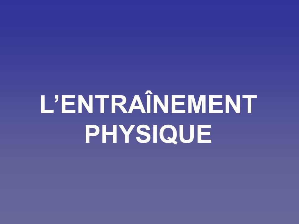 LENTRAÎNEMENT PHYSIQUE