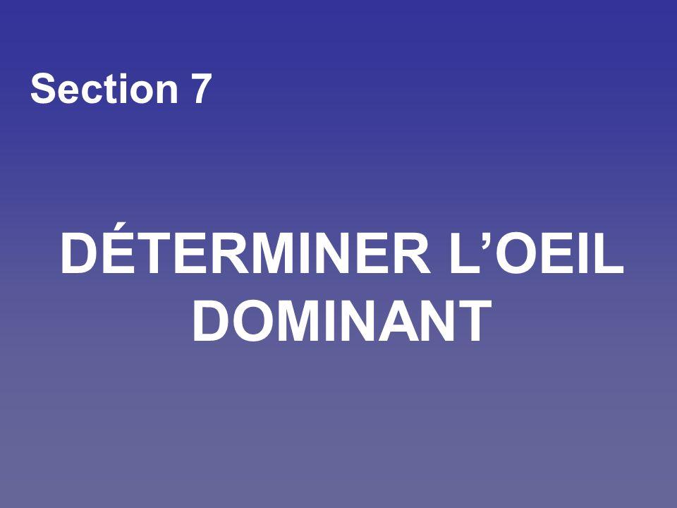 Section 7 DÉTERMINER LOEIL DOMINANT
