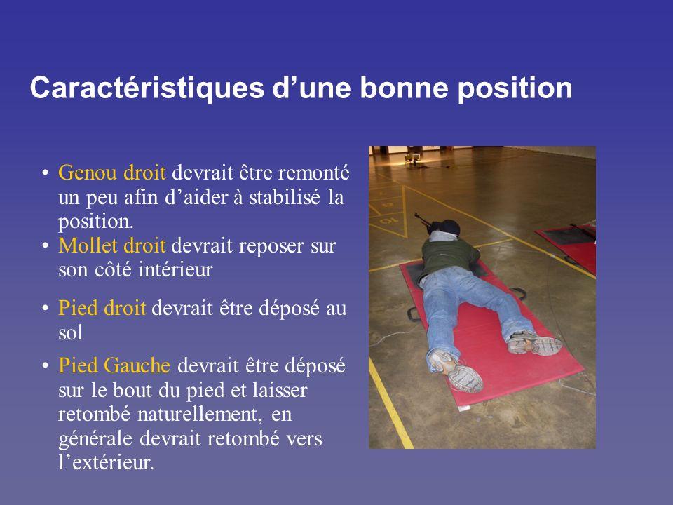 Caractéristiques dune bonne position Genou droit devrait être remonté un peu afin daider à stabilisé la position. Mollet droit devrait reposer sur son