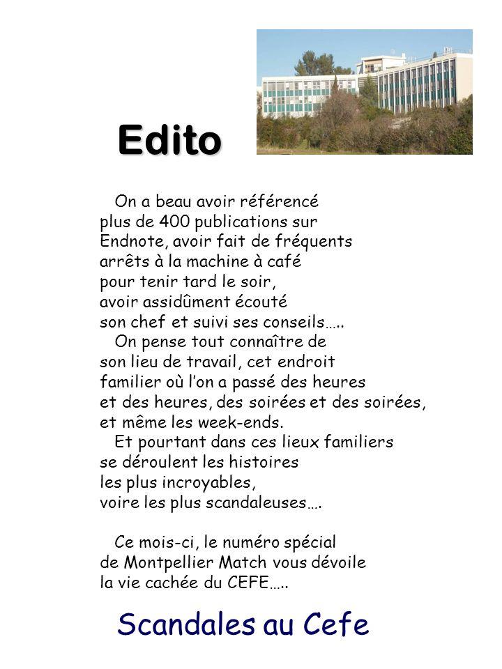 Edito On a beau avoir référencé plus de 400 publications sur Endnote, avoir fait de fréquents arrêts à la machine à café pour tenir tard le soir, avoi