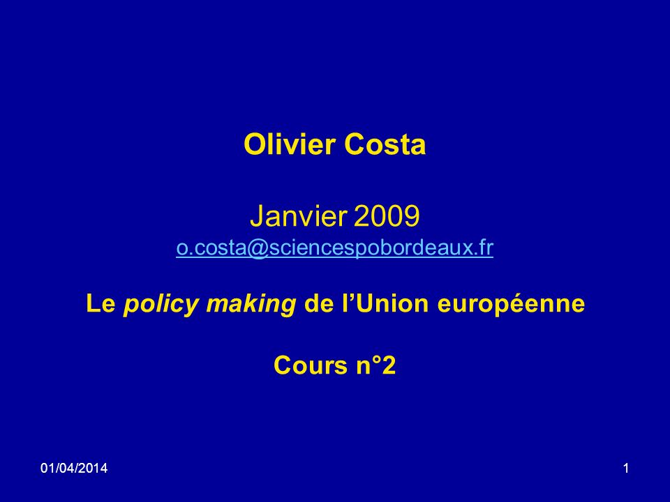 01/04/201412 1985-1995 Delors: redémarrage à partir de 1985.
