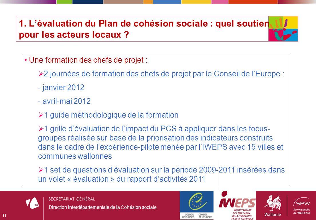 1. Lévaluation du Plan de cohésion sociale : quel soutien pour les acteurs locaux .