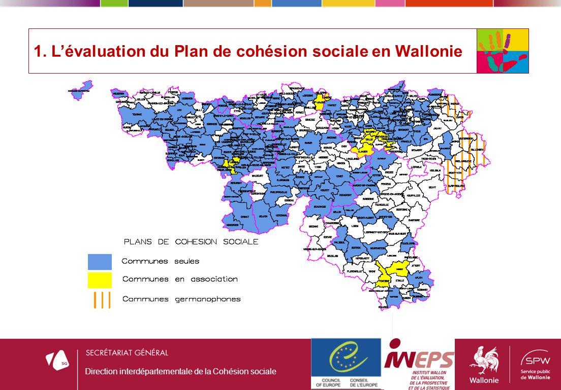 1. Lévaluation du Plan de cohésion sociale en Wallonie