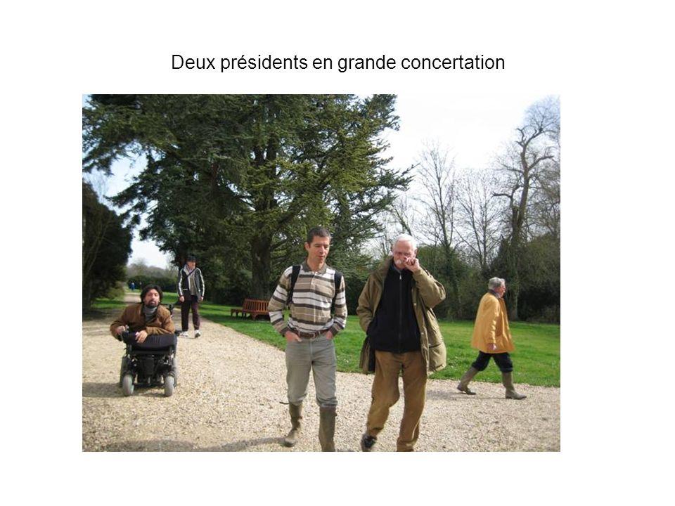 Deux présidents en grande concertation