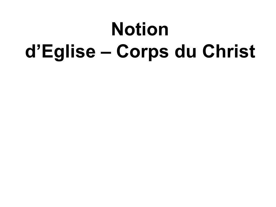 Notion dEglise – Corps du Christ