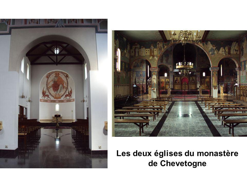 Les deux églises du monastère de Chevetogne