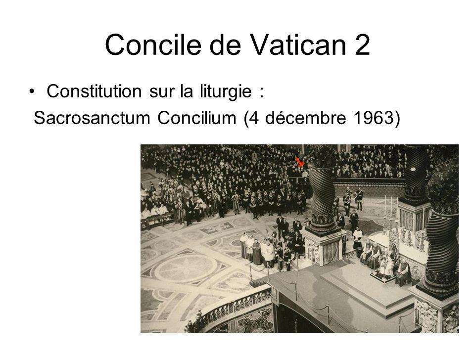 Concile de Vatican 2 Constitution sur la liturgie : Sacrosanctum Concilium (4 décembre 1963)