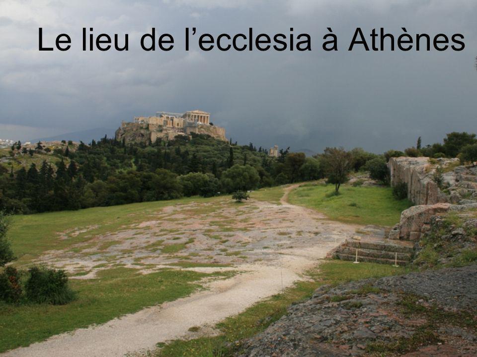 Le lieu de lecclesia à Athènes