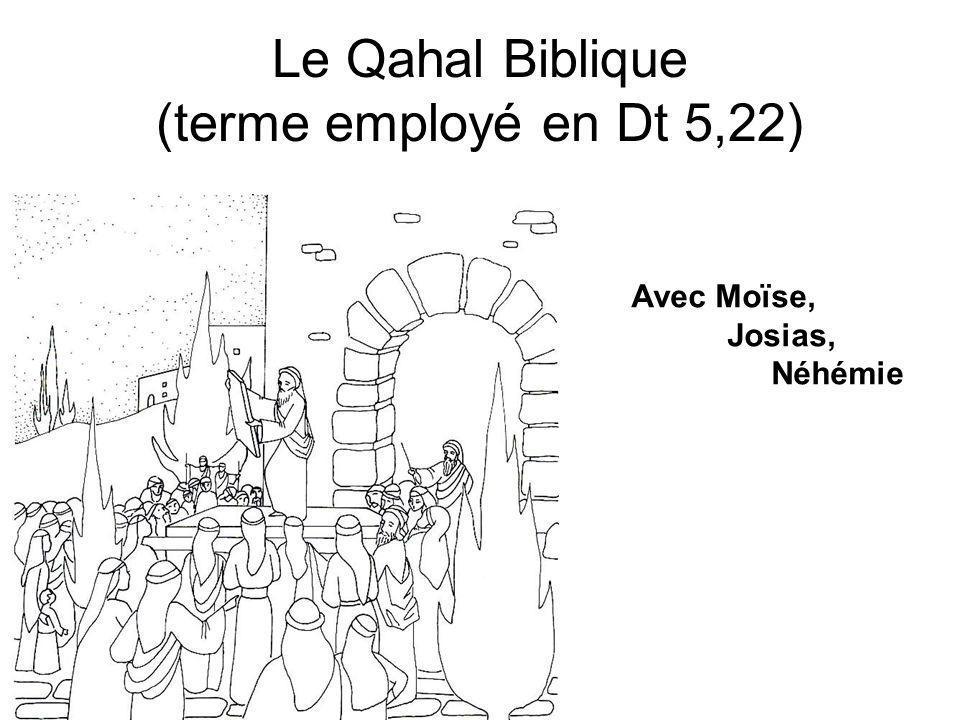 Le Qahal Biblique (terme employé en Dt 5,22) Avec Moïse, Josias, Néhémie