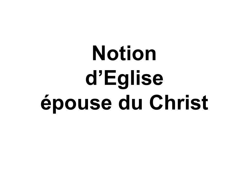 Notion dEglise épouse du Christ