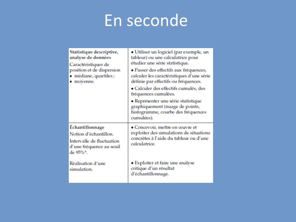 En seconde