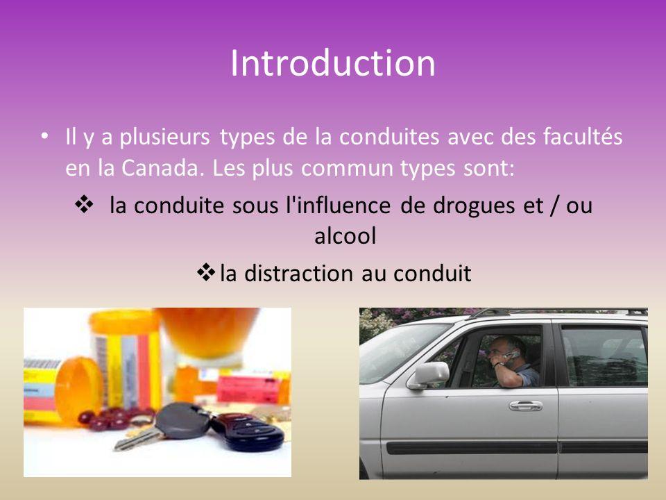Introduction Il y a plusieurs types de la conduites avec des facultés en la Canada.